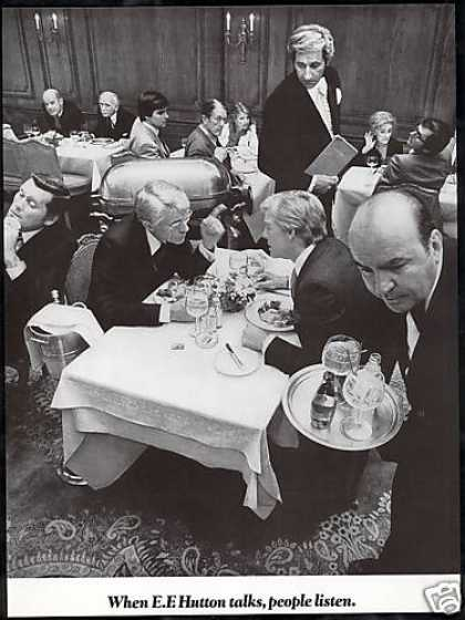 EF E.F Hutton Talks People Listen Restaurant (1978)