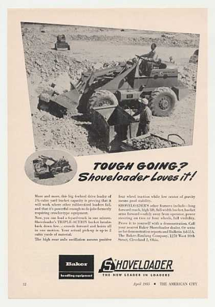 Baker Shoveloader Loader Tractor Photo (1955)