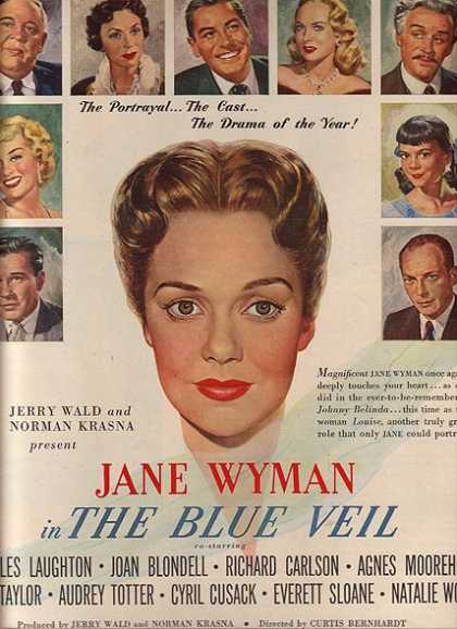 The Blue Veil (Jane Wyman, Charles Laughton, Joan Blondell and Agnes Moorehead) (1951)