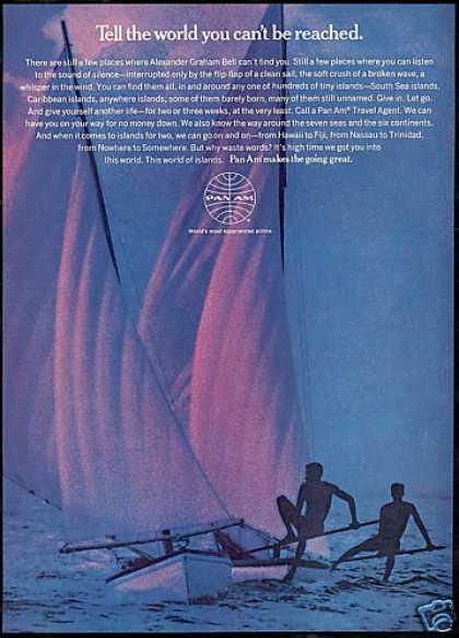 Pan Am Airlines Water Sailboat (1969)