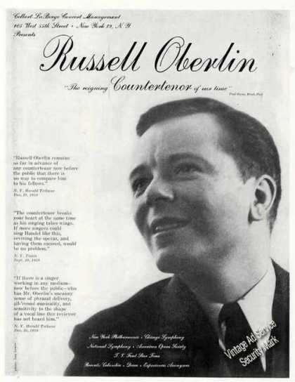 Russell Oberlin Photo Countertenor Trade (1960)