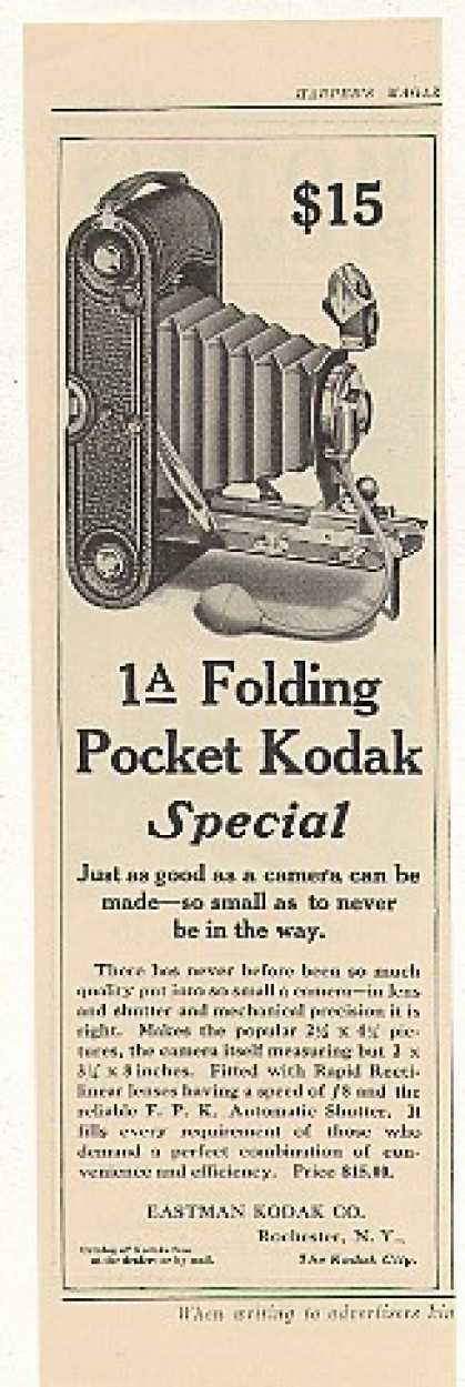Kodak 1A Folding Pocket Camera (1908)