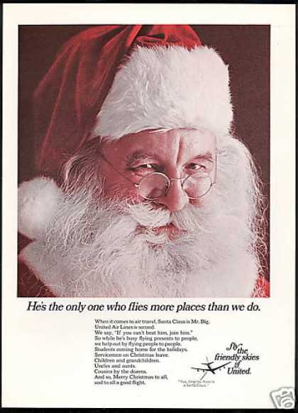 United Airlines Santa Claus Me Big Flies (1967)