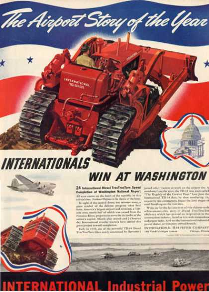 International Farm Bulldozer Tractor Ad T (1940)