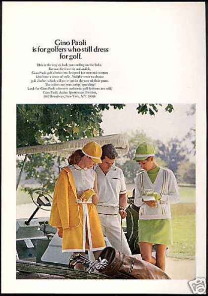Gino Paoli Mens Women's Golf Fashion (1969)