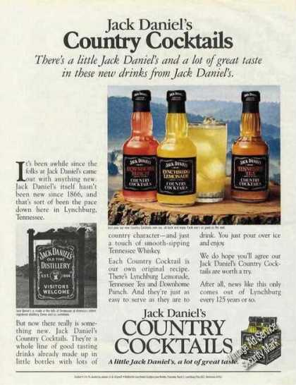 Jack Daniel's Country Cocktails Liquor (1992)