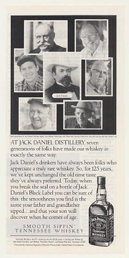 Jack Daniel's Whiskey Seven Generations Makers (1991)