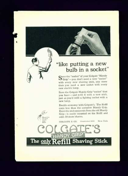 Colgate's Handy Grip Shaving Stick C (1920)