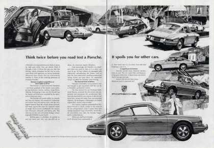 "Porsche Drawings ""Think Twice Before You Test"" (1967)"