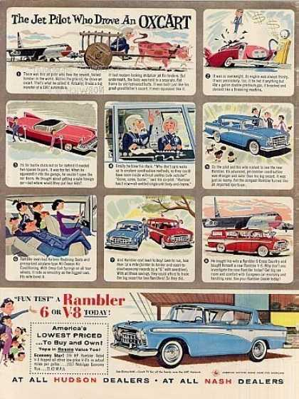 "Rambler Car Ad ""The Jet Pilot Who Drove... (1957)"