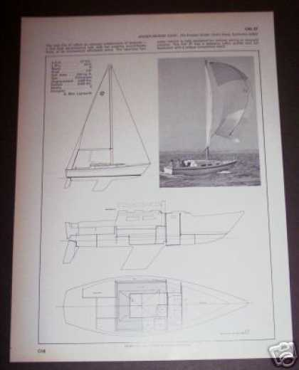 Jensen Marine Cal 27 Sailboat Boat Spec Page (1971)