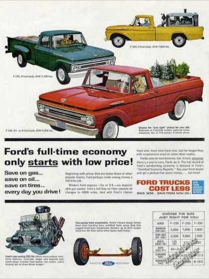 Ford Pickups Impressive Collectible (1962)
