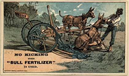 Durham Bull Fertilizer's fertilizer – No Kicking When Bull Fertilizer Is Used (1884)
