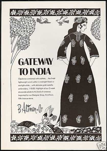 B. Altman &amp; Co India Womens Fashion (1971)