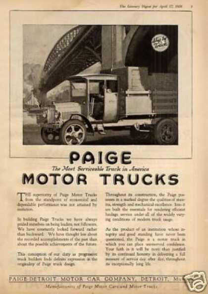 Paige Truck (1920)