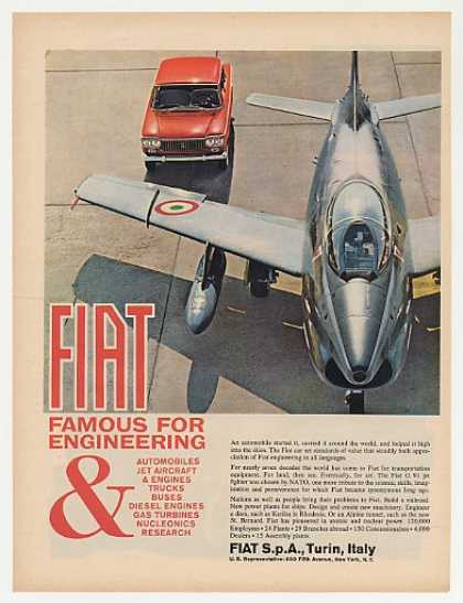 Fiat Automobile G 91 Jet Fighter Aircraft Photo (1963)