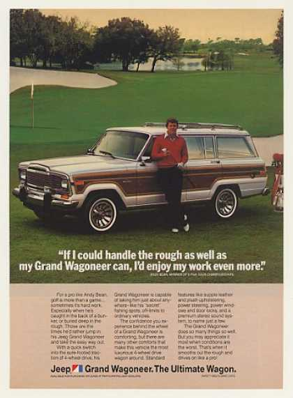 Golfer Andy Bean Jeep Grand Wagoneer Photo (1984)