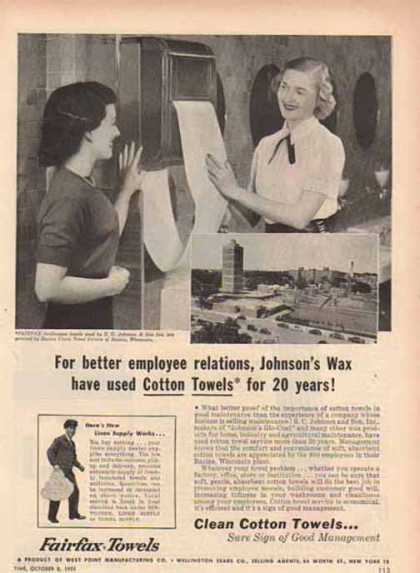 Fairfax Towels – Johnson's Glo Coat by S.C. Johnson & Sons (1951)