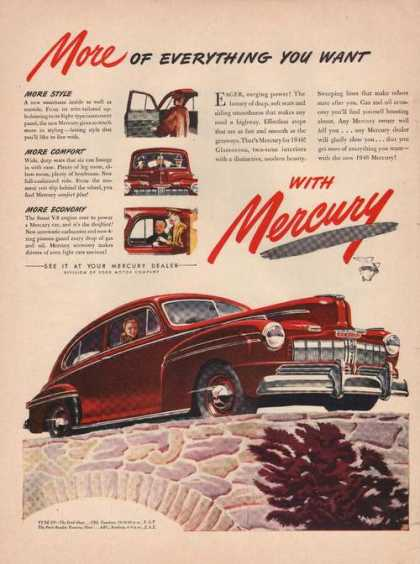 Big Red Ford Mercury Car (1944)