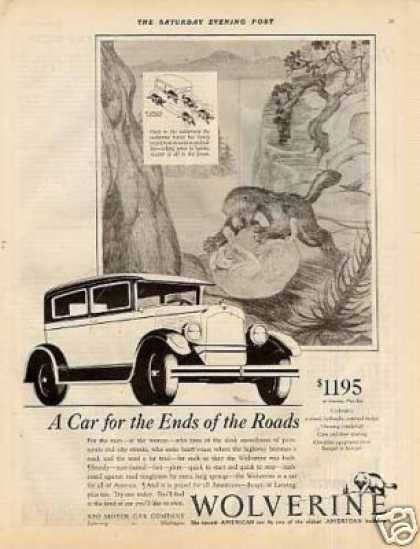 "Reo Wolverine Car Ad ""A Car for the Ends... (1928)"