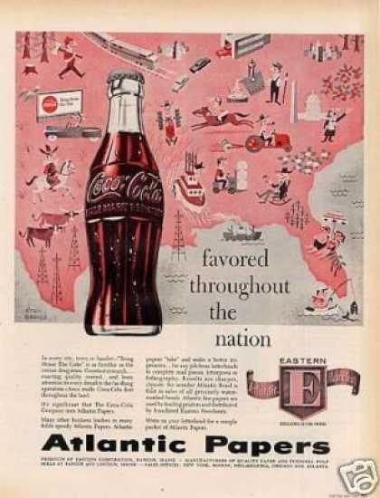 Atlantic Papers Ad Coca-cola (1957)