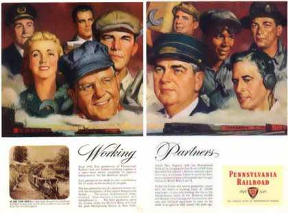 Pennsylvania Railroad – Working Partners – 2 Pages (1946)