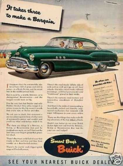 "Buick Car Ad ""It Takes Three To Make... (1951)"