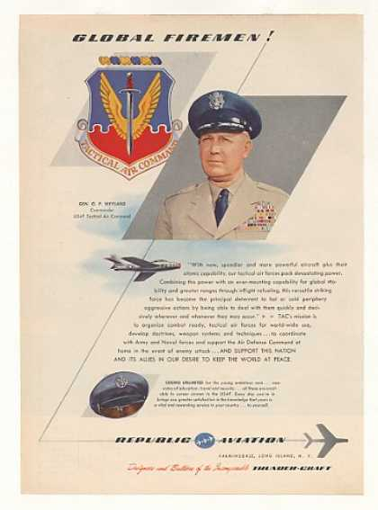 USAF TAC General O P Weyland Republic Aviation (1955)