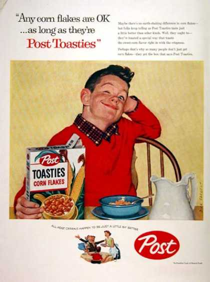 Post Toasties Cereal (1957)