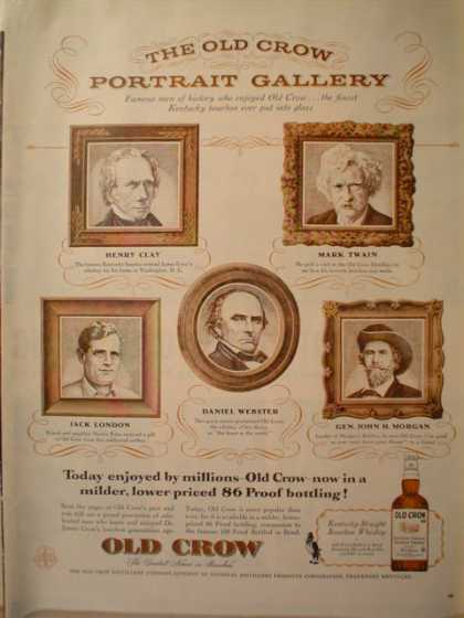 Old Crow Historic Portraits Mark Twain and more (1956)