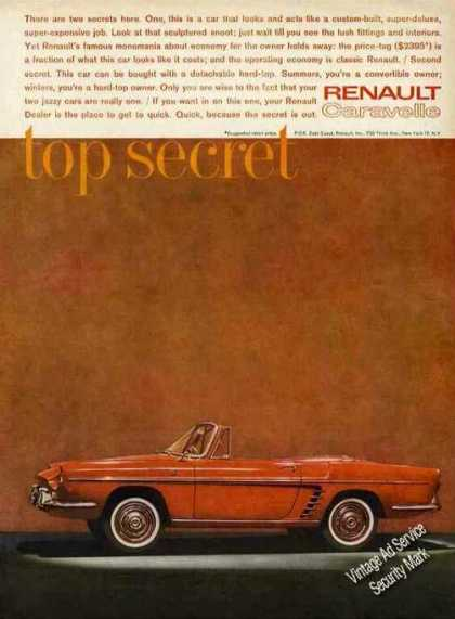 Red Renault Caravelle Detachable Hardtop (1961)