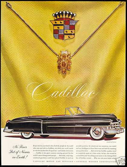Black Cadillac Convertible Car Cartier Jewels (1950)