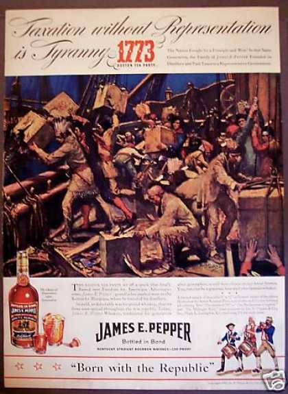 James E. Pepper Whisky Boston Tea Party (1940)