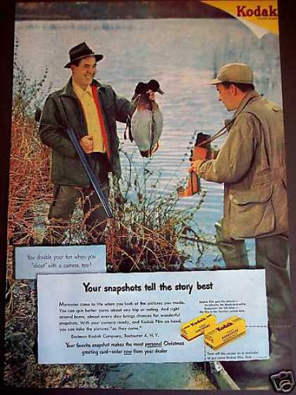 Duck Hunting Photo Kodak Kodacolor Film (1950)