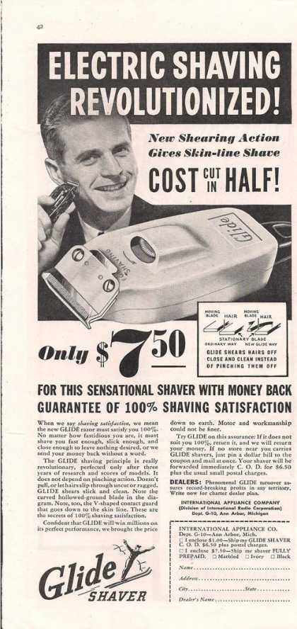 Electric Shaving Glide Shaver (1938)