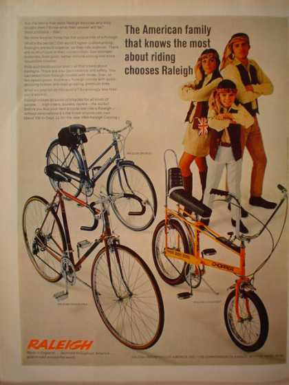 Raleigh Bicycles American Family knows most about riding (1969)