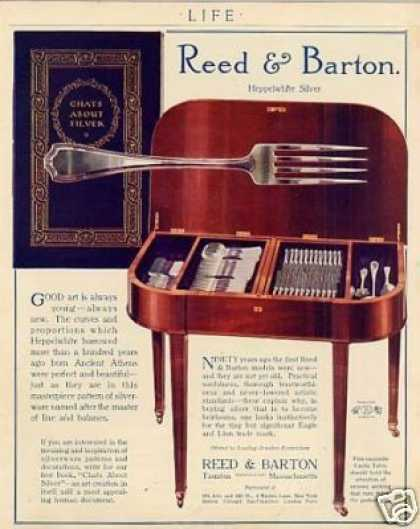 Reed & Barton Silver Ad Heppelwhite (1914)