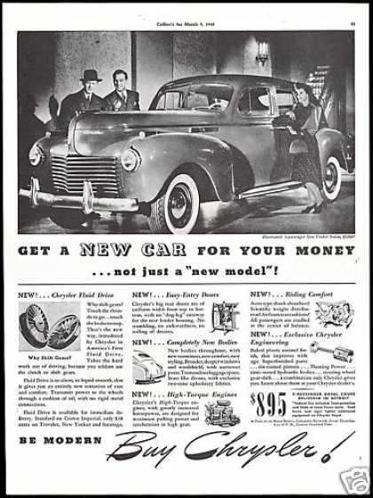 Chrysler New Yorker Sedan Car Photo Vintage (1940)
