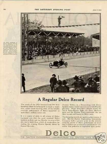 Delco Ad Indy 500/gaston Chevrolet (1920)