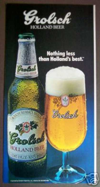 Grolsch Holland Beer Bottle Photo (1985)