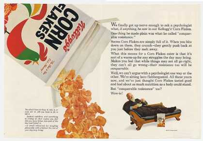 Kellogg's Corn Flakes Psychologist Couch 4-Pg (1967)