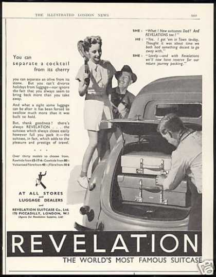 Revelation Suitcase Luggage Vintage Photo UK (1938)