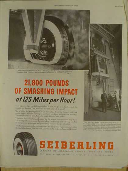 Sieberling tires. 21,800 pounds at 125 MPH. Plane theme (1952)