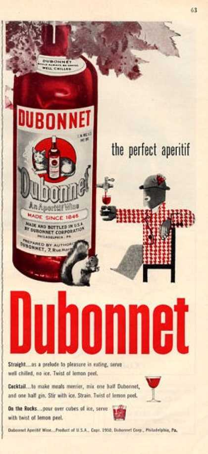Dubonnet Apertif Wine Bottle (1951)