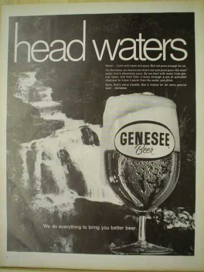 Genesee beer. Head waters. Everything to bring you better beer (1969)