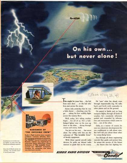 Bendix Aviation Corporation's Aircraft Transmitter and Receiver – On his own... but never alone (1943)