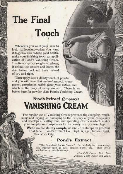 Pond's Extract Co.'s Pond's Vanishing Cream – The Final Touch (1912)