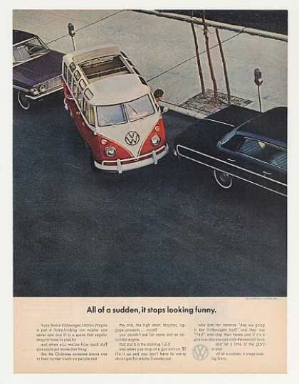 VW Volkswagen Station Wagon Stops Looking Funny (1964)