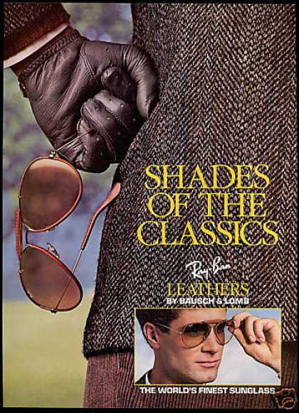 Ray-Ban Leathers Sunglasses Photo (1987)