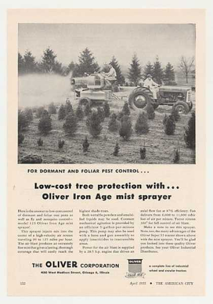 Oliver Super 55 Tractor 125 Iron Age Sprayer (1955)